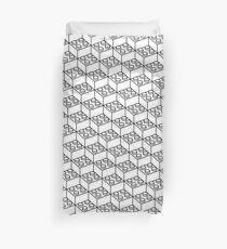 2x2 Legoblock White pattern Duvet Cover