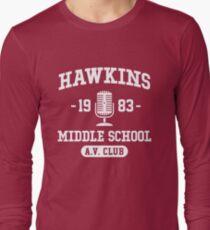 Hawkins Middle School A.V. Club - Stranger Things Long Sleeve T-Shirt