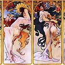 'The Four Seasons' by Alphonse Mucha (Reproduction) by Roz Abellera Art Gallery