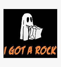 I Got A Rock - It's The Great Pumpkin, Charlie Brown Photographic Print