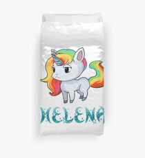Helena Unicorn Sticker Duvet Cover