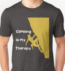 Climbing Funny Design - Climbing Is My Therapy Unisex T-Shirt