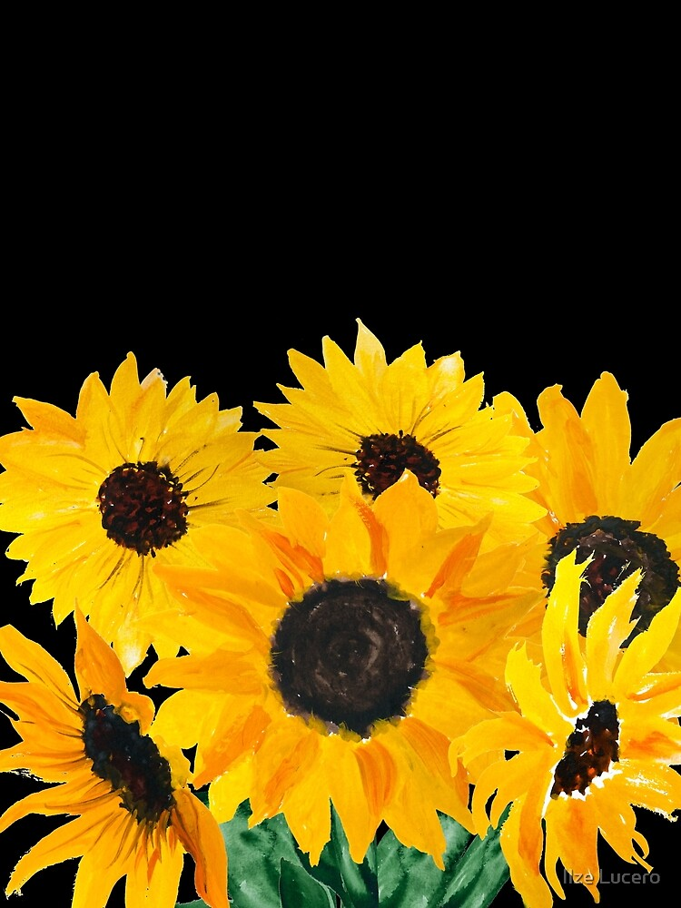 Painted sunflower bouquet by ilzesgimene