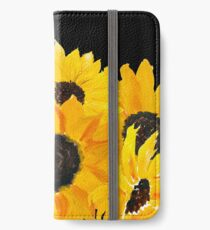 Painted sunflower bouquet iPhone Wallet/Case/Skin
