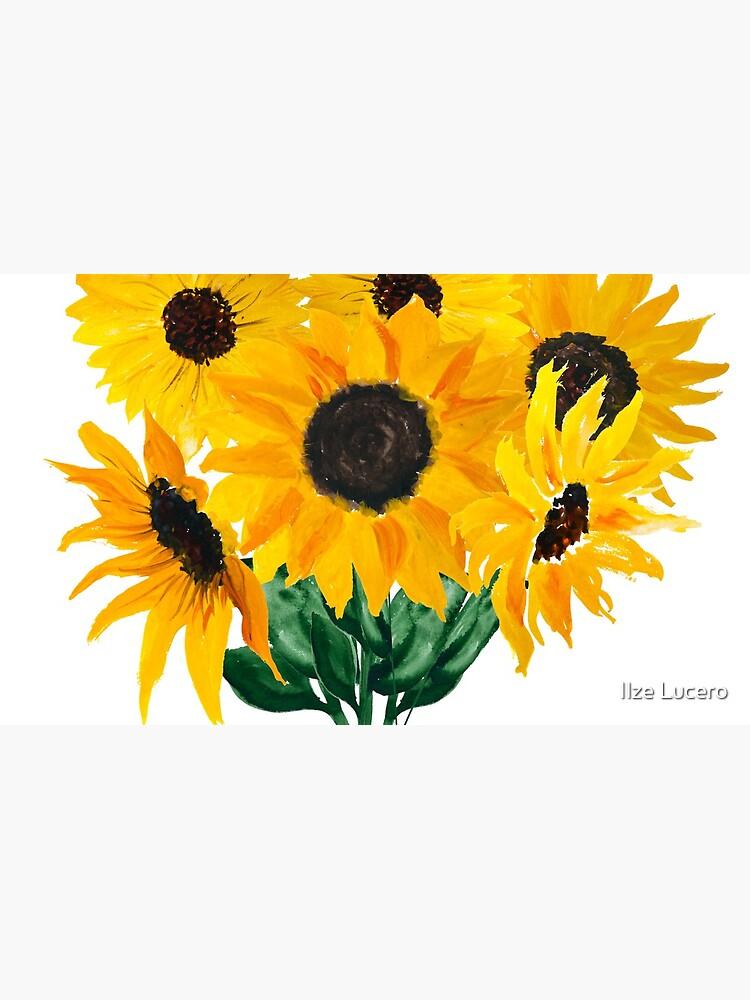 Gemalter Sonnenblumenstrauß von ilzesgimene