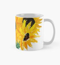 Gemalter Sonnenblumenstrauß Tasse