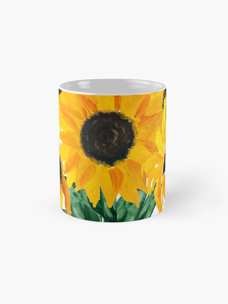 Alternate view of Painted sunflower bouquet Mug