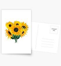 Gemalter Sonnenblumenstrauß Postkarten