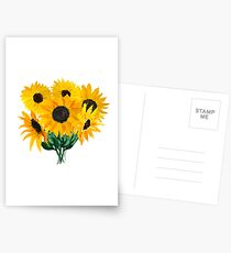 Painted sunflower bouquet Postcards