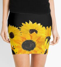 Painted sunflower bouquet Mini Skirt