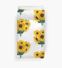 Gemalter Sonnenblumenstrauß Bettbezug