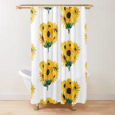 Painted sunflower bouquet Shower Curtain