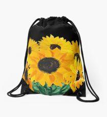 Gemalter Sonnenblumenstrauß Turnbeutel