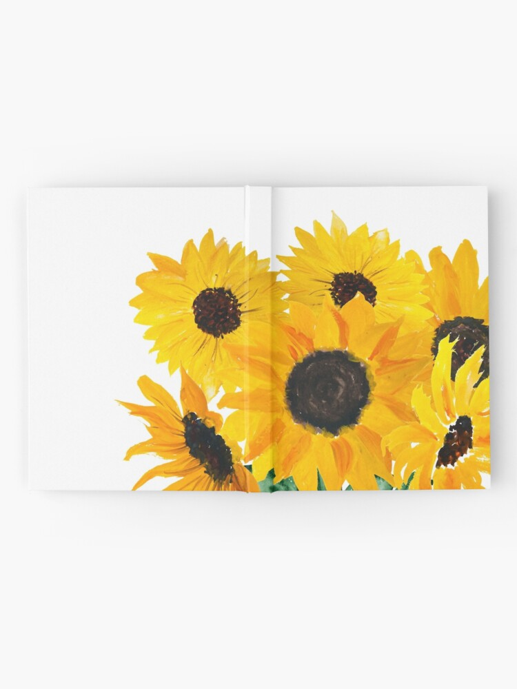 Alternate view of Painted sunflower bouquet Hardcover Journal