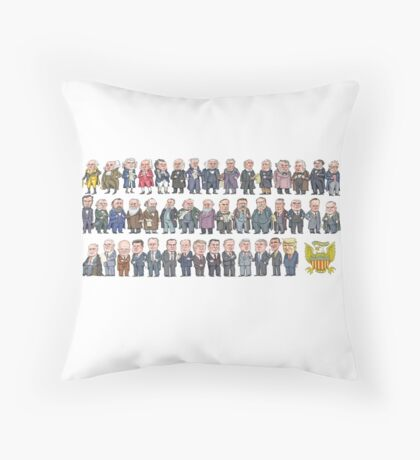 Presidents of the United States Throw Pillow