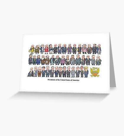 Presidents of the United States Greeting Card