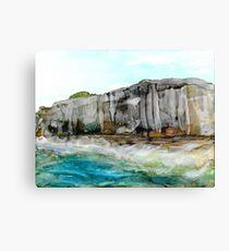 Cliffs and Ocean Canvas Print