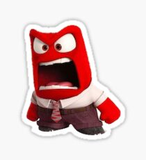 Anger Inside Out  Sticker