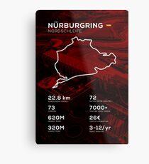 Nurburgring Infographic Metal Print
