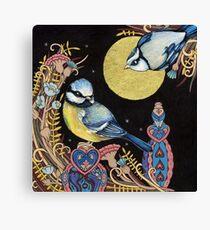Blue Tits Canvas Print