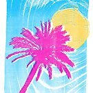 Pink Palm Tree by iamsla