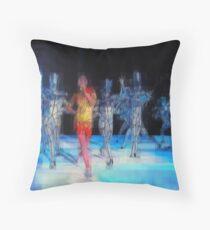 Ten Men, halftime singers, abstract pixel art, Superbowl 2015 Throw Pillow