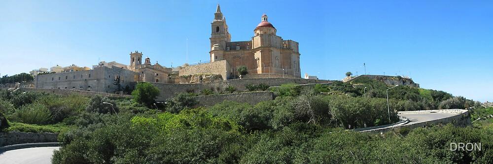 CHURCH AT MELLIEHA, MALTA by DRON