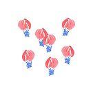 Air Balloons on White by Elena Simonova