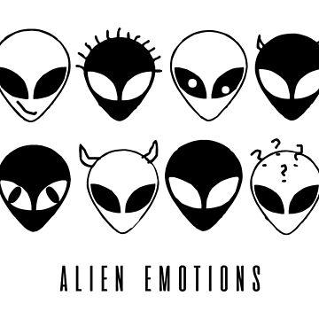 ALIEN EMOTIONS (black) by eileendiaries