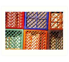Colorful Crates Art Print