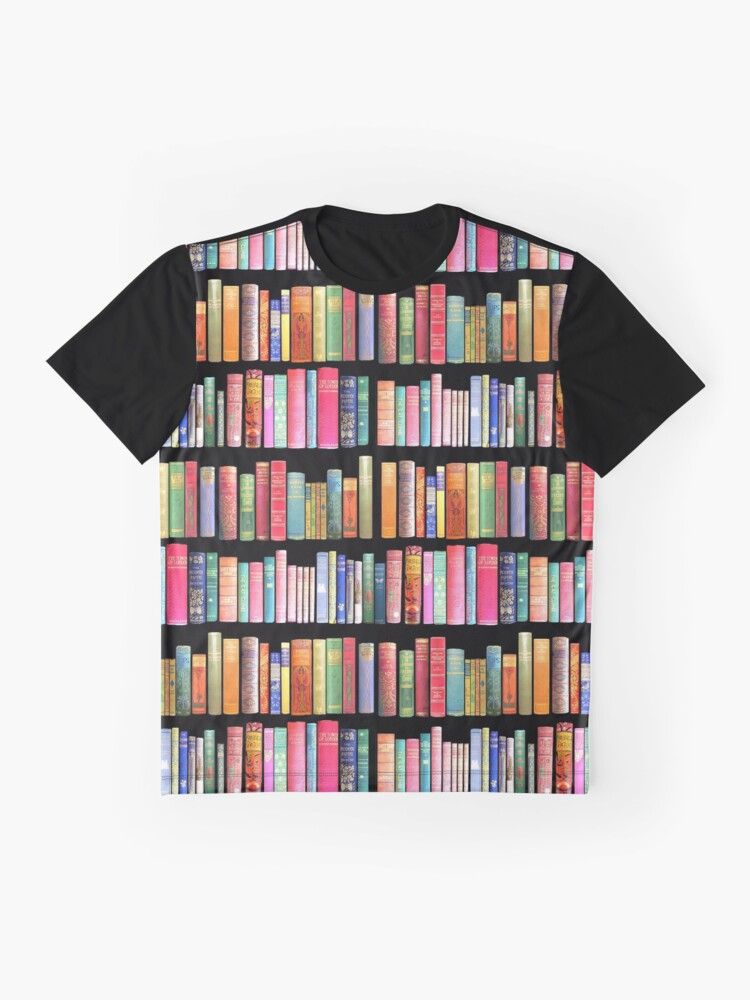 Alternate view of Bookworms Delight / Antique Book Library for Bibliophile Graphic T-Shirt