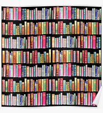 Bookworms Delight / Antique Book Library for Bibliophile Poster