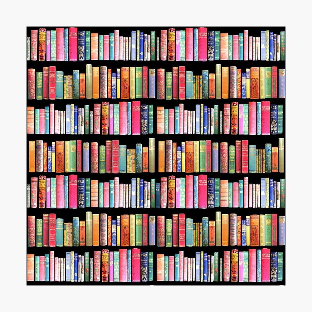 Bookworms Delight / Antique Book Library for Bibliophile Photographic Print
