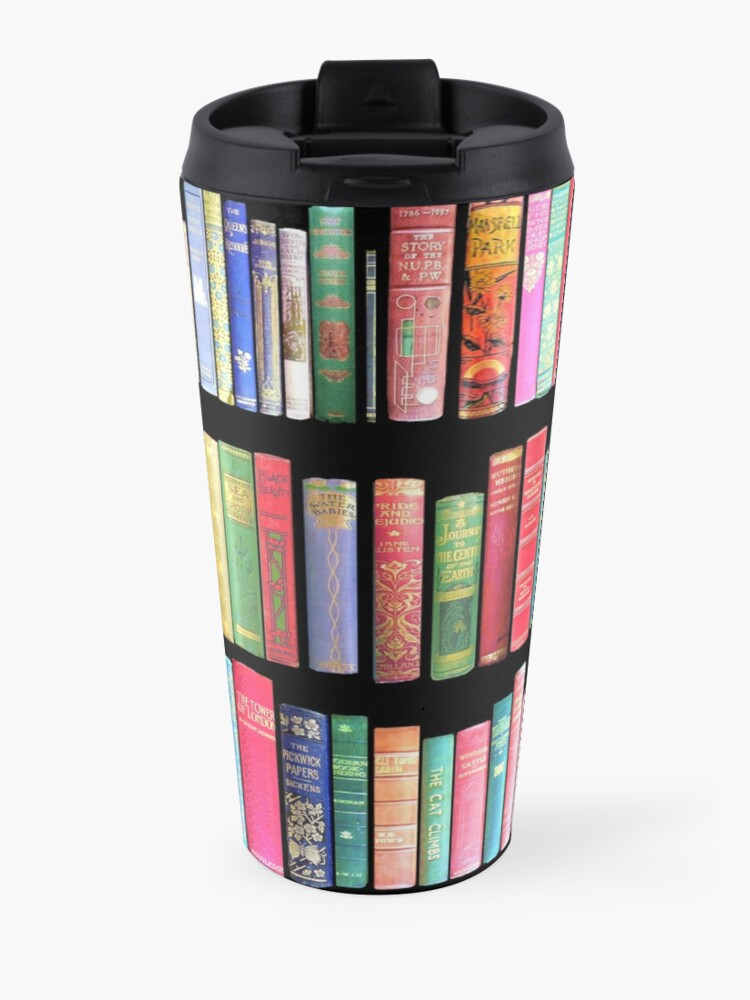 Alternate view of Bookworms Delight / Antique Book Library for Bibliophile Travel Mug