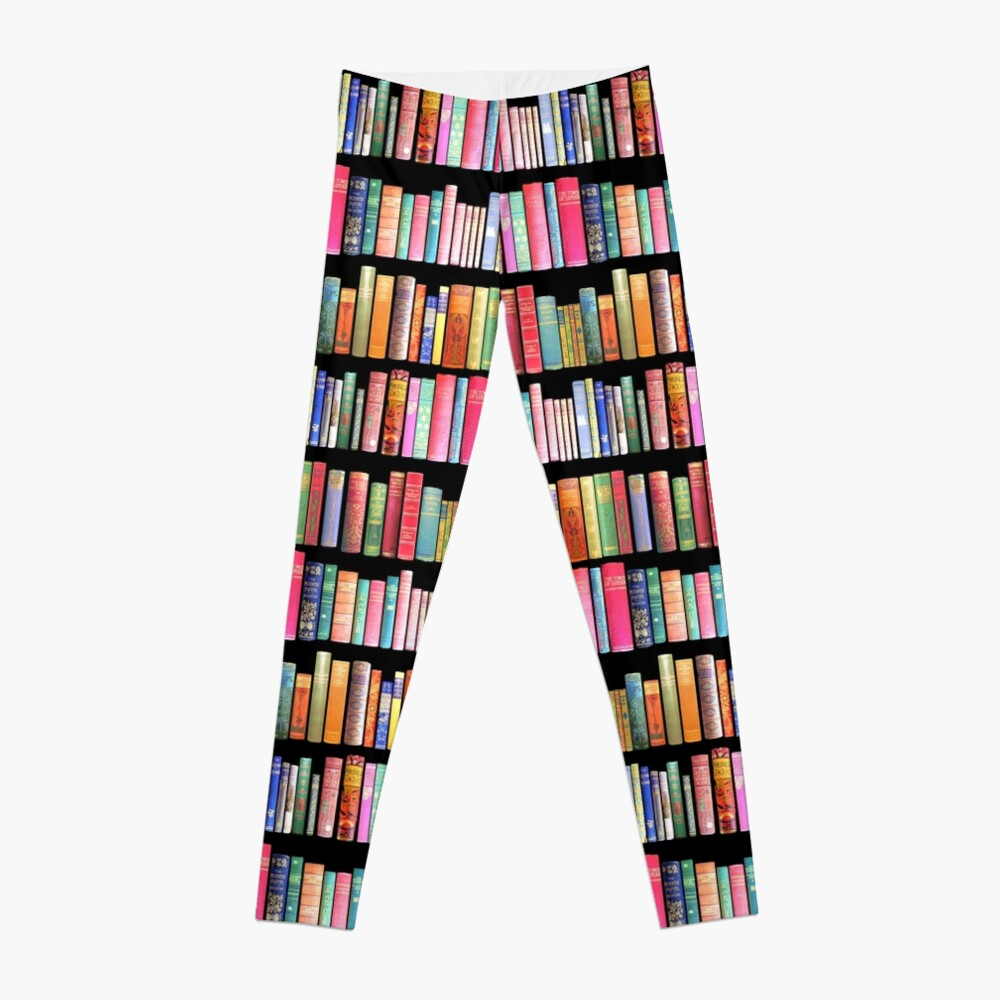 Bookworms Delight / Antique Book Library for Bibliophile Leggings