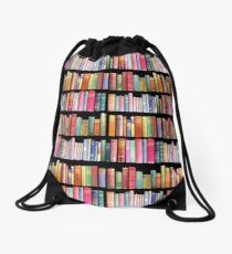 Bookworms Delight / Antique Book Library for Bibliophile Drawstring Bag