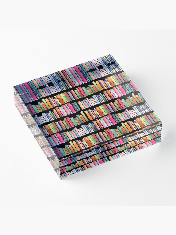 Alternate view of Bookworms Delight / Antique Book Library for Bibliophile Acrylic Block