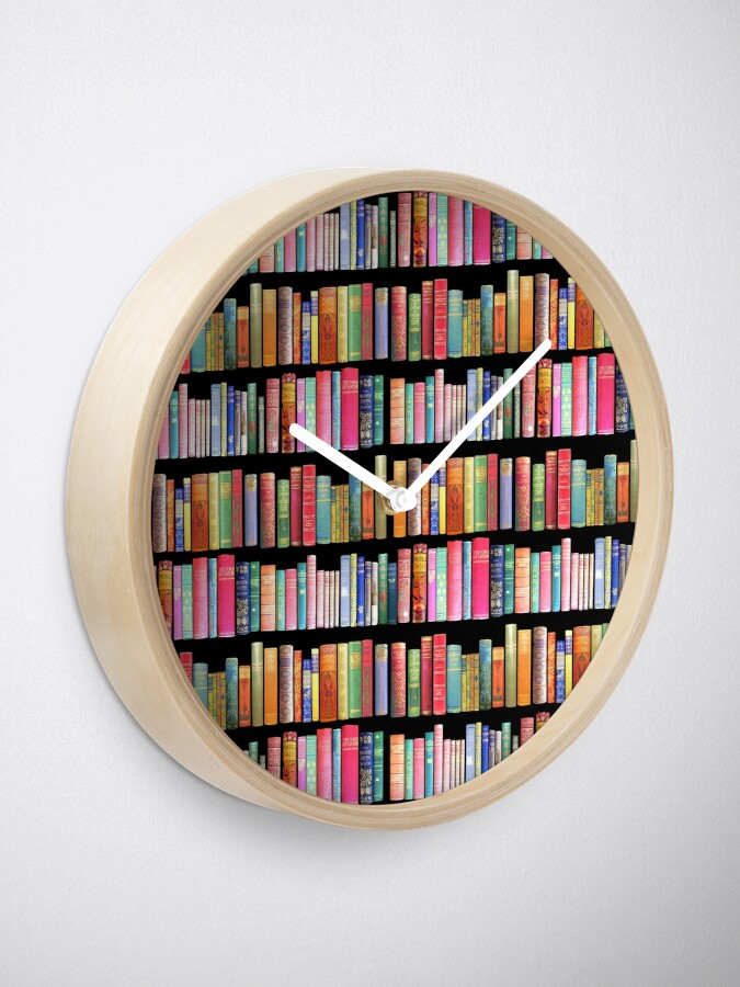 Alternate view of Bookworms Delight / Antique Book Library for Bibliophile Clock