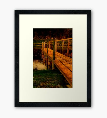 """The Jetty"" Framed Print"