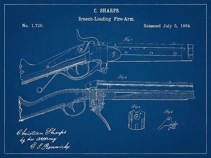 Lienzos civil war era sharps rifle blueprint drawing de michael civil war era sharps rifle blueprint drawing de michael kessel malvernweather Images