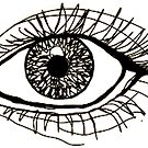 bigger eye outline  by carlac