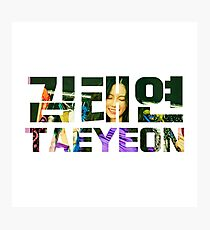 SNSD Taeyeon Holiday Night 01 Photographic Print