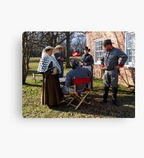 Civil War Re Enactors Canvas Print