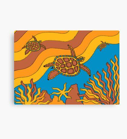 Goorlil - (turtle) irralb season (autumn) Canvas Print