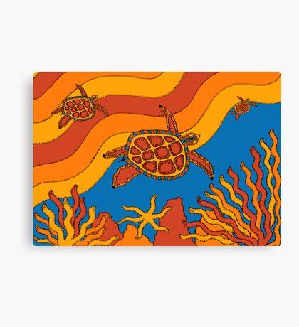Goorlil - (turtle) lalin season (summer) Canvas Print