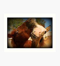 Just Horse'n Around Art Print