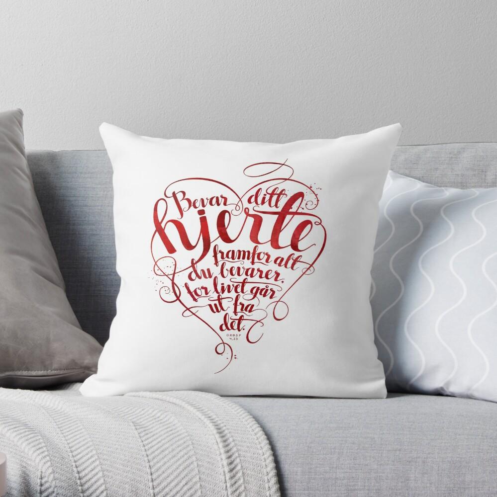Bevar ditt hjerte Throw Pillow