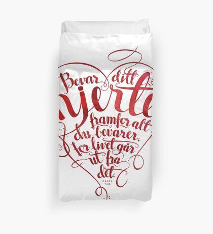 Bevar ditt hjerte Duvet Cover