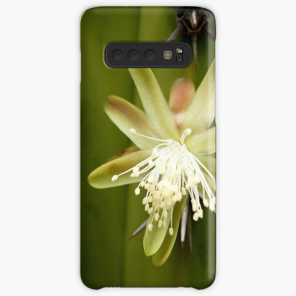 White Cactus flower Case & Skin for Samsung Galaxy