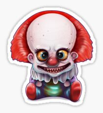 Pegatina Monster baby smiley clown